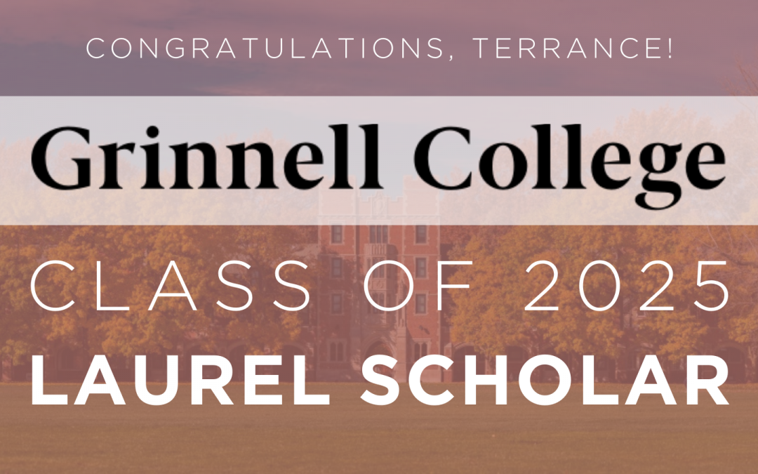 UCW Senior Terrance Dantzler Named Grinnell College Laurel Scholarship Recipient