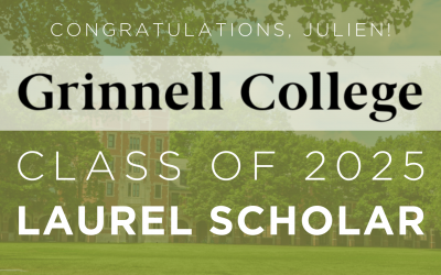 UCW Senior Julien Sims Named Grinnell College Laurel Scholarship Recipient